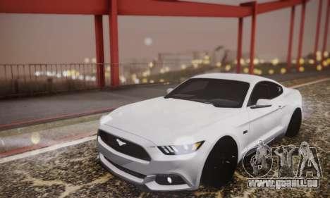 Ford Mustang GT 2015 Stock für GTA San Andreas Seitenansicht