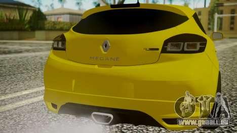 Renault Megane RS für GTA San Andreas Rückansicht