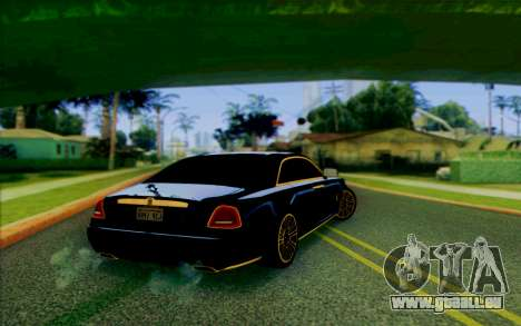 Rolls-Royce Ghost Mansory für GTA San Andreas zurück linke Ansicht