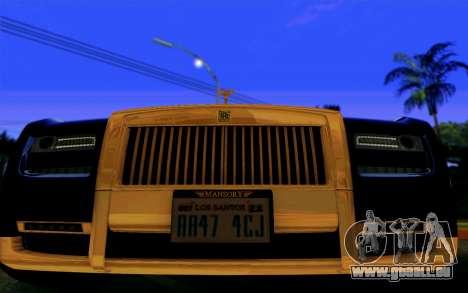 Rolls-Royce Ghost Mansory für GTA San Andreas Rückansicht