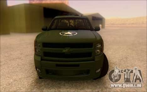 Chevrolet Silverado 2500 Best Edition pour GTA San Andreas vue arrière