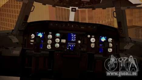 Boeing 767-300 Orbit Airlines für GTA San Andreas Rückansicht