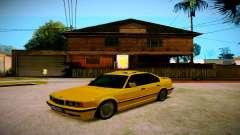 BMW 525tds E34 Russian Taxi für GTA San Andreas
