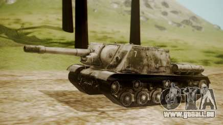 ISU-152 Snow from World of Tanks pour GTA San Andreas