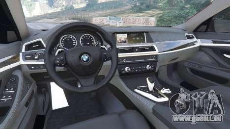 GTA 5 BMW 535i 2012 arrière droit vue de côté