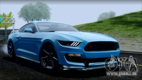 Ford Mustang Shelby GT350R 2016 No Stripe pour GTA San Andreas moteur
