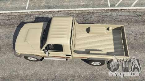 GTA 5 Toyota Land Cruiser LX Pickup 2016 vue arrière