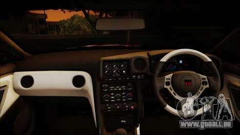 Nissan GT-R Nismo 2015 Itasha Paintjobs pour GTA San Andreas vue intérieure