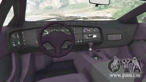 GTA 5 Jaguar XJ220 v0.9 arrière droit vue de côté
