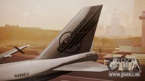 Boeing 747-200 Evergreen International Airlines pour GTA San Andreas sur la vue arrière gauche