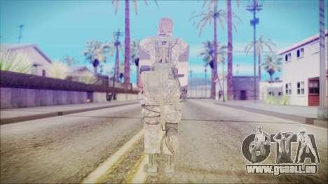 MGSV Phantom Pain Snake Normal Woodland für GTA San Andreas dritten Screenshot
