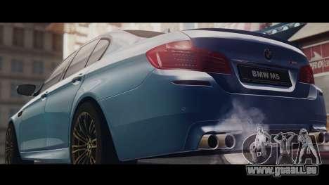 BMW M5 F10 Stock Single für GTA San Andreas zurück linke Ansicht