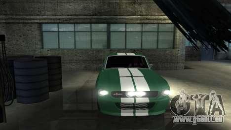 Ford Mustang Shelby GT500 1967 pour GTA San Andreas vue de dessus