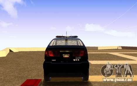 Karin Dilettante Police Car pour GTA San Andreas sur la vue arrière gauche