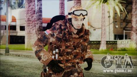 Chinese Army Desert Camo 3 pour GTA San Andreas