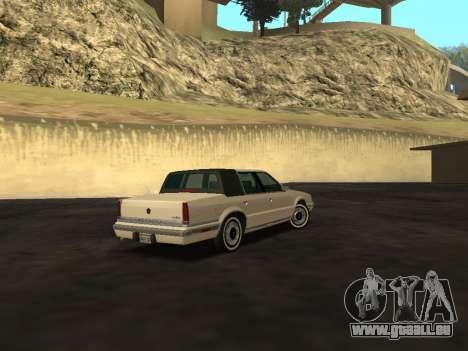 Chrysler New Yorker 1988 pour GTA San Andreas vue arrière