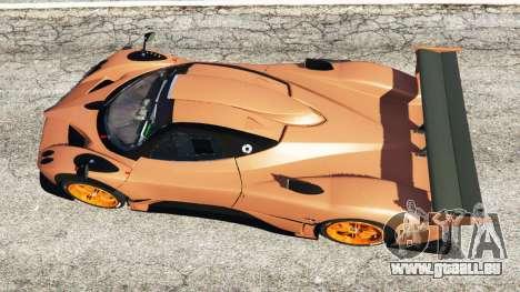 GTA 5 Pagani Zonda R v0.9 vue arrière