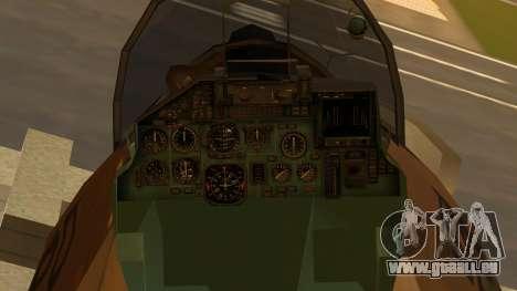 SU-27 Flanker A Philippine Air Force für GTA San Andreas rechten Ansicht