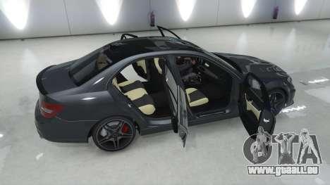 GTA 5 Mercedes-Benz C63 AMG v1 arrière vue latérale gauche