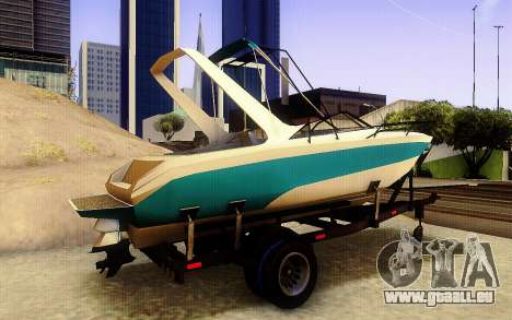 GTA V Boat Trailer für GTA San Andreas zurück linke Ansicht