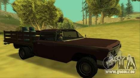 Voodoo El Camino v2 (Truck) für GTA San Andreas Räder