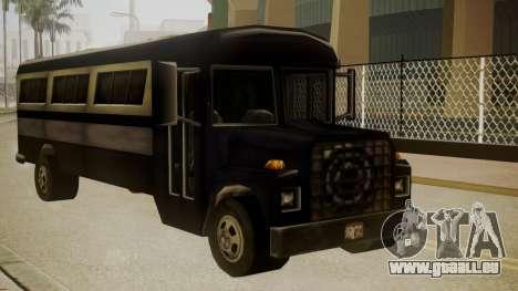 Bus III pour GTA San Andreas sur la vue arrière gauche