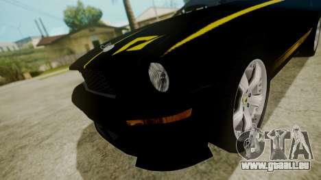 Ford Mustang Shelby Terlingua für GTA San Andreas Rückansicht