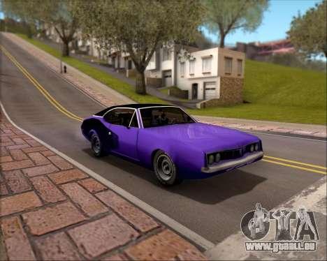 Clover Barracuda für GTA San Andreas obere Ansicht
