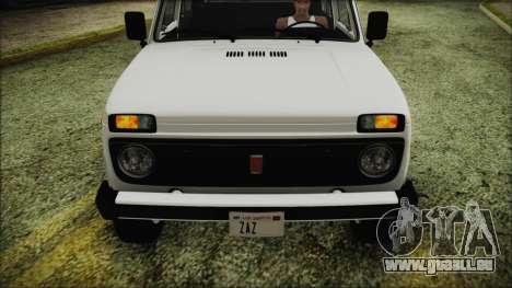 VAZ 2121 Niva 1600 de FIV APT pour GTA San Andreas vue arrière