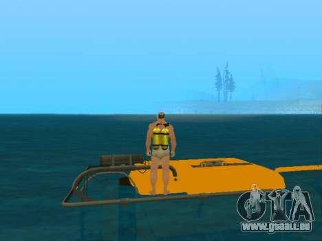 Submersible de GTA V pour GTA San Andreas vue de côté
