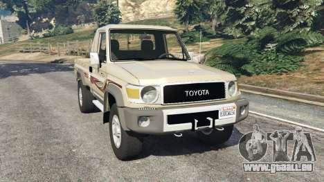 Toyota Land Cruiser LX Pickup 2016 pour GTA 5