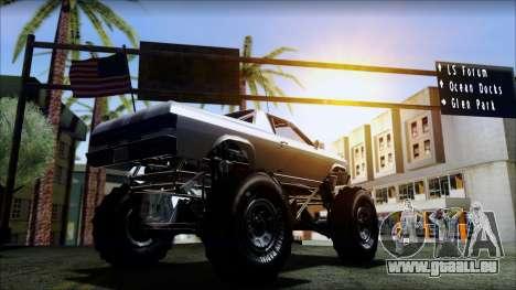 GTA 5 Cheval Marshall pour GTA San Andreas sur la vue arrière gauche