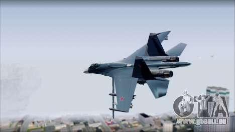 SU-35 Russian Air Force Modern Livery für GTA San Andreas linke Ansicht