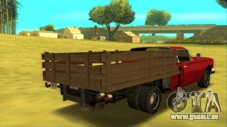 Voodoo El Camino v2 (Truck) für GTA San Andreas rechten Ansicht
