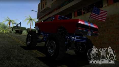 GTA 5 Cheval Marshall IVF pour GTA San Andreas sur la vue arrière gauche