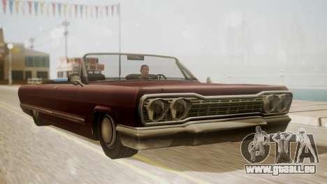 Savanna FnF Skin pour GTA San Andreas sur la vue arrière gauche