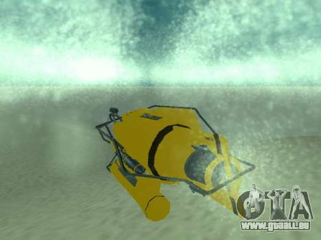 Submersible de GTA V pour GTA San Andreas vue arrière