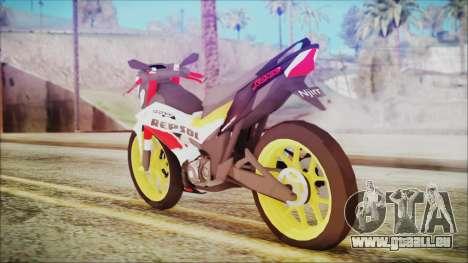 Honda Sonic 150R AntiCacing pour GTA San Andreas laissé vue