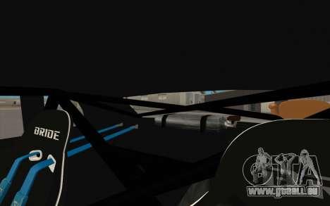 Elegy DRIFT KING GT-1 (Stok wheels) pour GTA San Andreas salon
