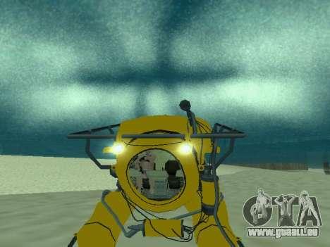 Submersible de GTA V pour GTA San Andreas vue de dessous