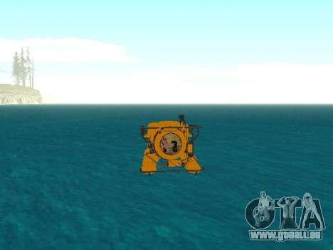 Submersible de GTA V pour GTA San Andreas vue de dessus