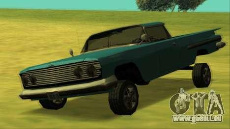 Voodoo El Camino v1 für GTA San Andreas obere Ansicht