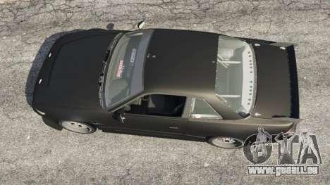 GTA 5 Nissan Silvia S13 v1.2 [without livery] Rückansicht