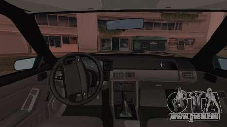 Ford Mustang Hatchback 1991 v1.2 pour GTA San Andreas sur la vue arrière gauche