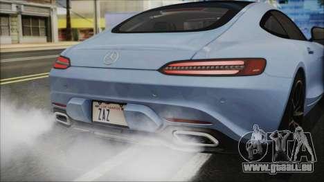 Mercedes-Benz AMG GT 2016 für GTA San Andreas Rückansicht