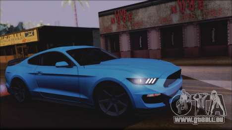 Ford Mustang Shelby GT350R 2016 No Stripe pour GTA San Andreas vue arrière