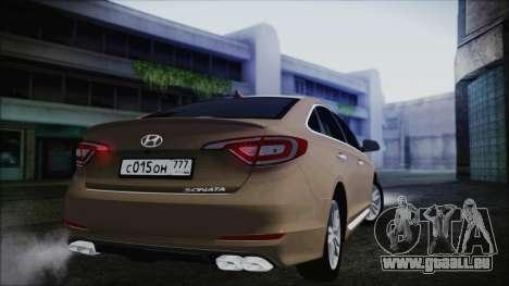 Hyundai Sonata 2015 für GTA San Andreas rechten Ansicht