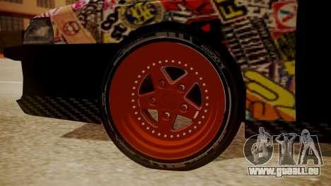 Sultan Full of Stickers für GTA San Andreas zurück linke Ansicht