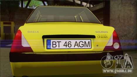 Dacia Solenza Taxi für GTA San Andreas Rückansicht
