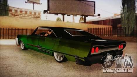 Savanna Ganstar Lowrider pour GTA San Andreas laissé vue